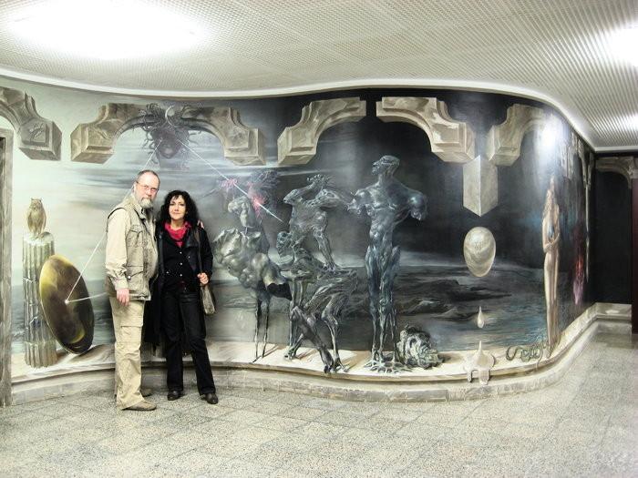 Das Künstlerpaar Hans-Peter Müller und Alexandra Müller-Jontschewa | Surrealismus Aktuelle