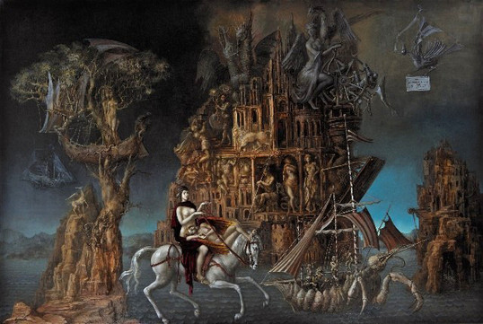 Alexandra Müller-Jontschewa | Hermetische Festung | Surrealismus Akuelle