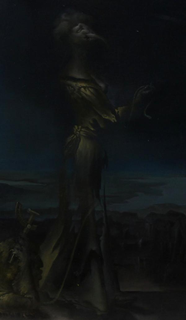 Hans-Peter Müller | Promenierende Isis mit Bildnis Carl Zeiss in der Manier Arcimboldo | Surrealismus Aktuelle