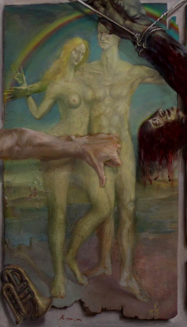 Hans-Peter Müller | Schindung des Marsyas | Ausschnitt | Surrealismus Aktuelle