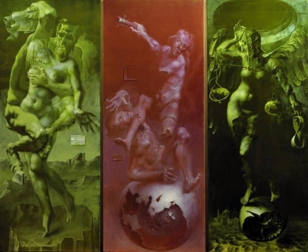 Hans-Peter Müller | Kain und Abel, Tryptichon | Surrealismus Aktuelle