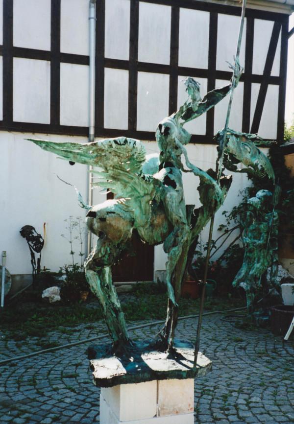 Hans-Peter Müller | Reiterin auf Fabelwesen | Surrealismus Aktuelle