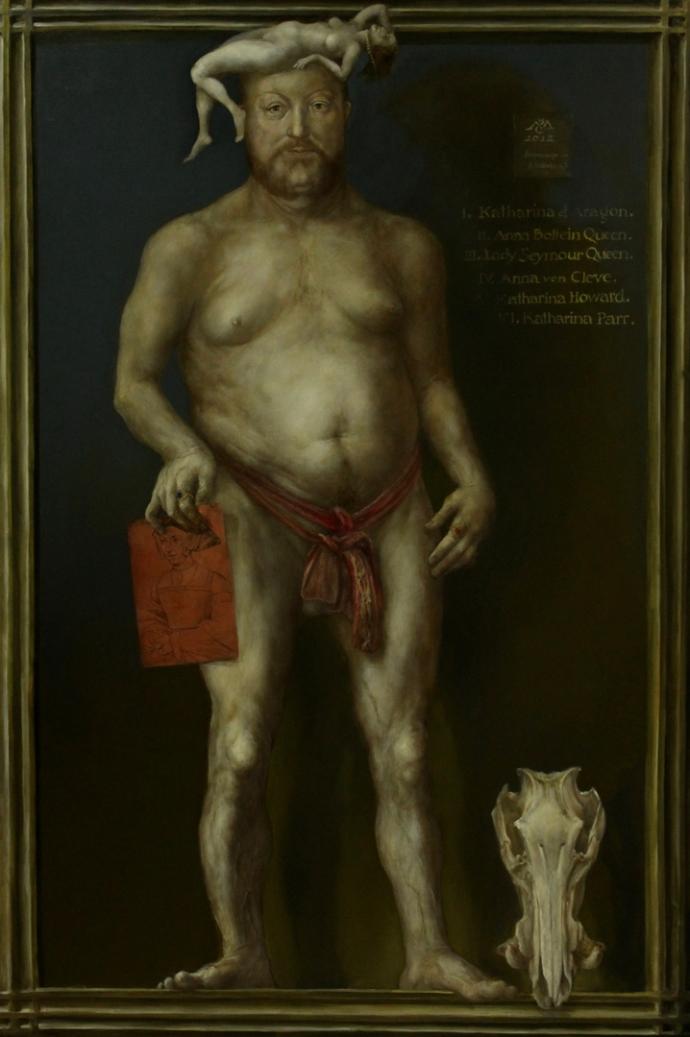Alexandra Müller-Jontschewa | Hommage à H. Holbein d. Jüngere; Heinrich der VIII | Surrealismus-Aktuelle.com