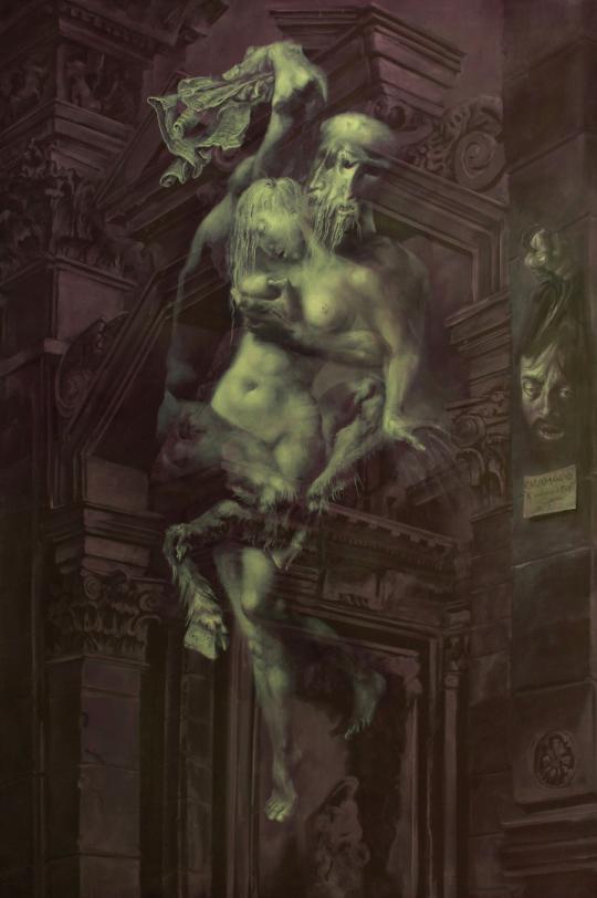 Hans-Peter Müller | Hommage à Caravaggio, Vergewaltigung der Eva | 2013 | Surrealismus-Aktuelle.com