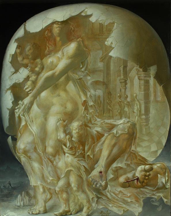 Hans-Peter Müller | Die heilige Familie - Magdalenenaltar | Surrealismus-Aktuelle.com
