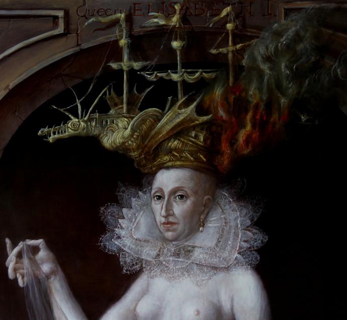 Alexandra Müller-Jontschewa | Hommage à Lucas Cranach; Elisabeth die I. |  | Surrealismus-Aktuelle.com