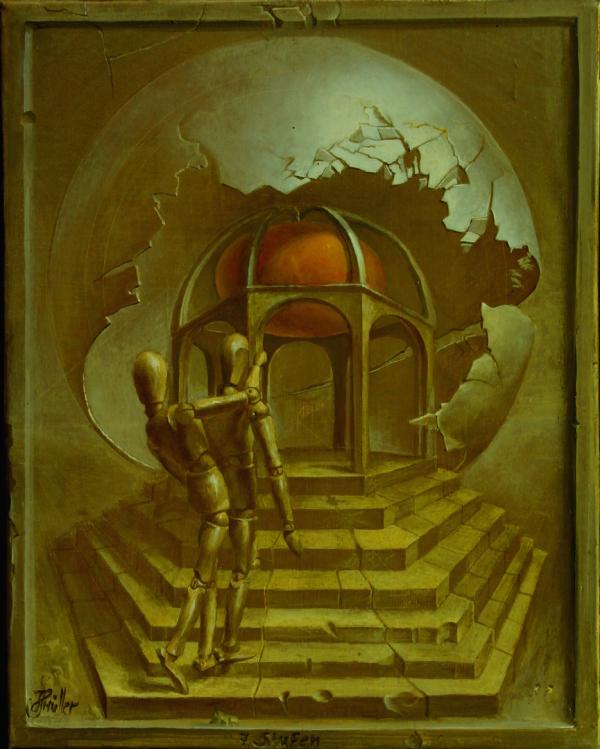Hans-Peter Müller | Sieben Stufen | Surrealismus-Aktuelle.com