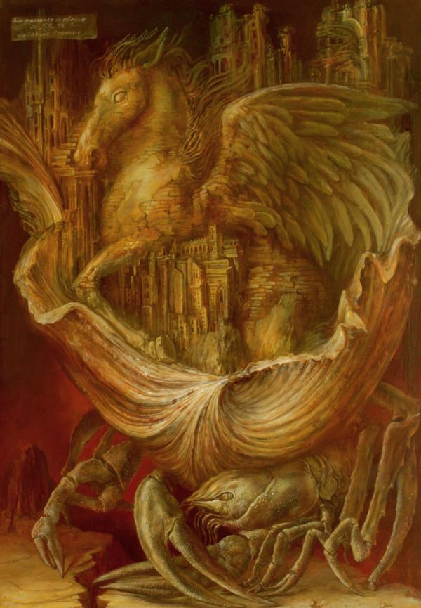 Alexandra Müller-Jontschewa | Die Geburt Pegasus | Surrealismus Aktuelle