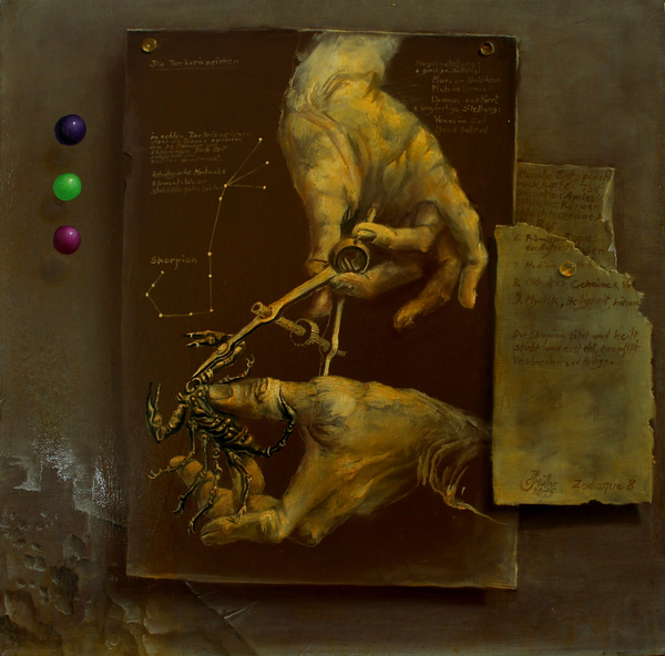Hans-Peter Müller | Skorpion 8 | 2015 | Öl / Leindwand | Surrealismus-Aktuelle.com