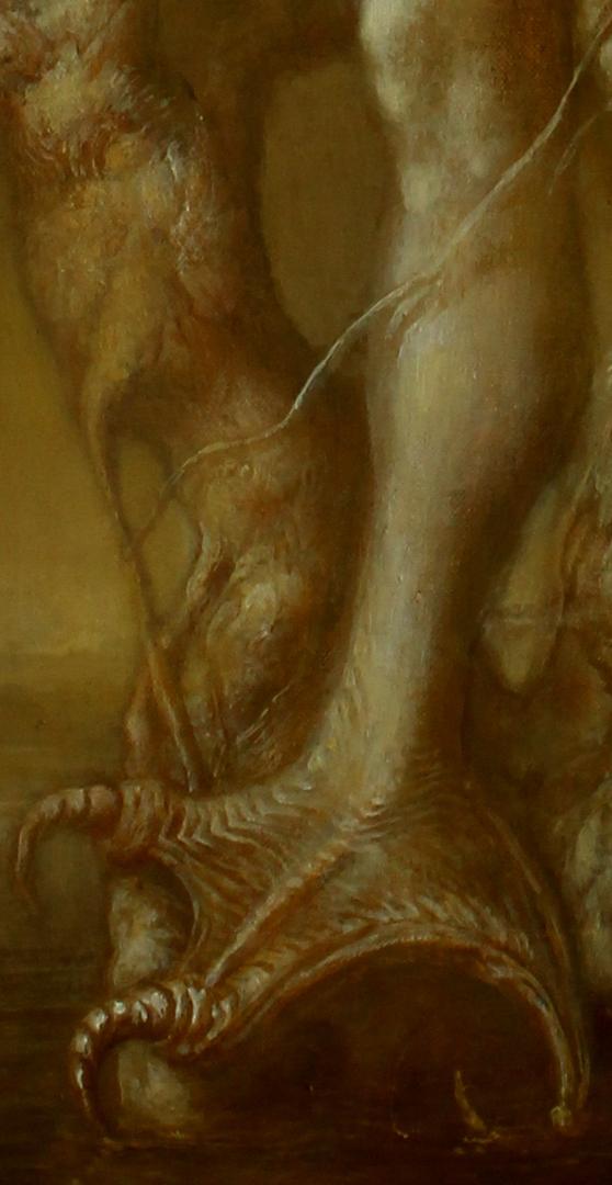 Alexandra Müller-Jontschewa | Ausschnitt Sirene im Baum | 2015 | Öl