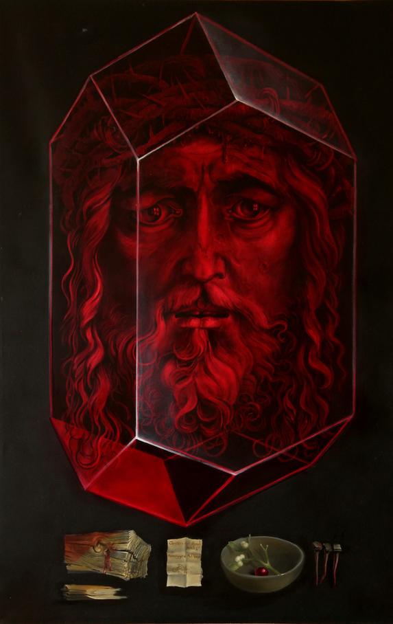 Hans-Peter Müller | Christos aus dem Abendland | Hommage à Albrecht Dürer | 2015 | Öl / Leindwand | Surrealismus-Aktuelle.com