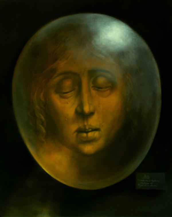 Hans-Peter Müller | Weinende Maria Magdalena | Hommage à Rogier van der Weyden | 2015 | Öl / Leinwand | Surrealismus-Aktuelle.com