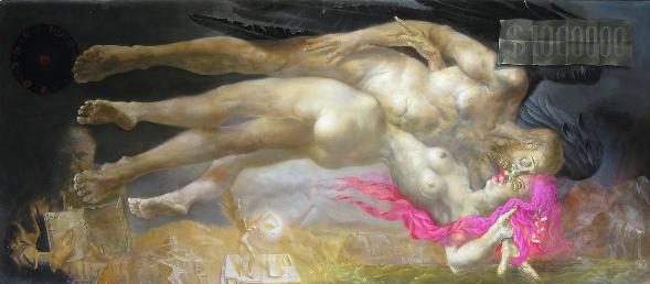 Hans-Peter Müller | 1000000 Dollarschein | 100 x 230 cm | Surrealismus-Aktuelle.com