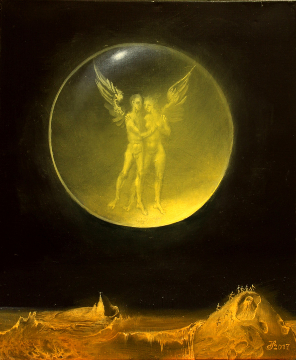 Hans-Peter Müller | Vulkano I |surrealismus-aktuelle.com