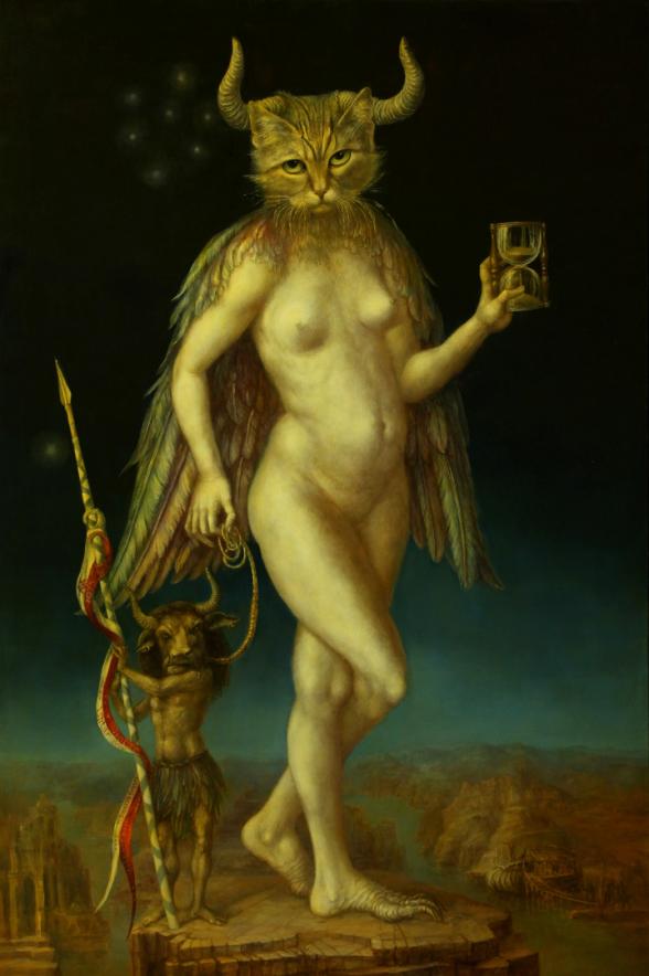Alexandra Müller-Jontschewa |Ishtar mit Gilgamesh | Surrealismus-Aktuelle.com