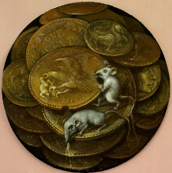 Alexandra Müller-Jontschewa| Ein US-Cent | 30 cm | 2017