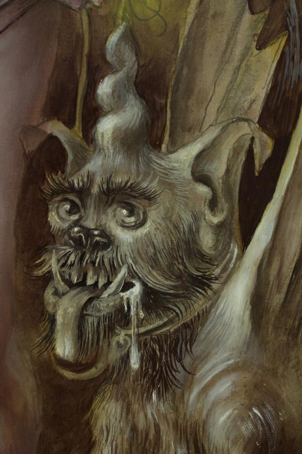 Hans-Peter Müller | Kaukasierin mit Hund | Öl Leinwand | 2018 | Detail