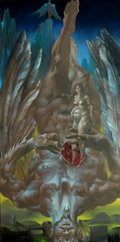 Hans-Peter Müller | Geburt Eva | Surrealismus-Aktuelle.com